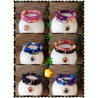 (出清)和風項圈 貓項圈 日本風 櫻花 碎花 寵物項圈 項圈 狗項圈  最低價 選擇最多。