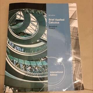 Brief Applied Calculus商用數學 原文書