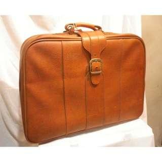 既古董又復古棕色大型手提行李箱*LOFT&VINTAGE弎拾弍創作舍*C109
