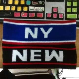 NY、NEW YORK字樣運動髮帶