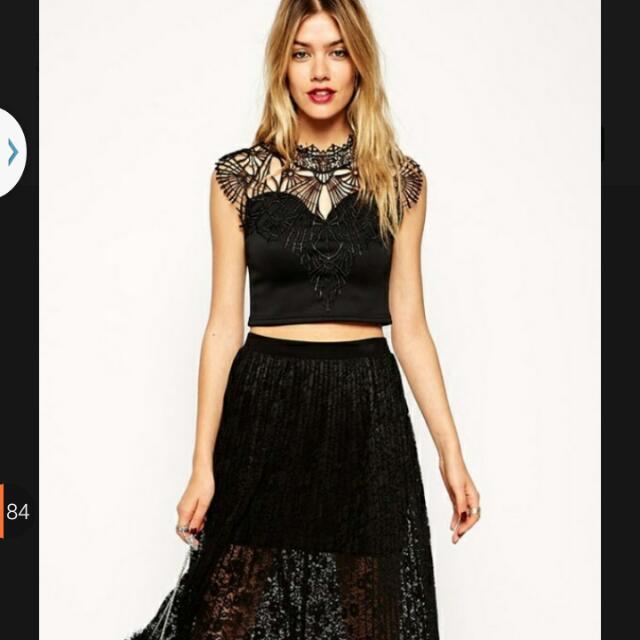 Black Skirt only / top sold