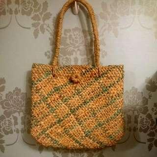 春夏草編包·手工編織