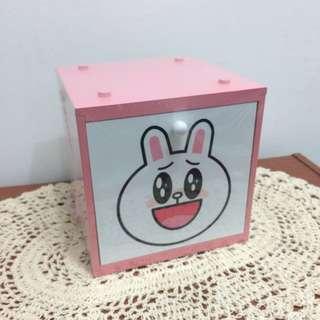 免運🎉Line兔兔方格木質收納盒