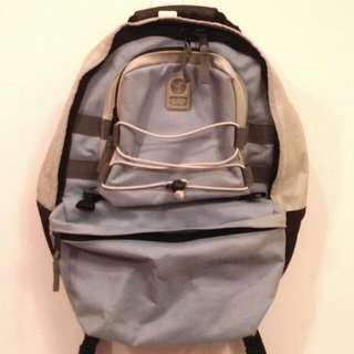 GAP天藍色大容量雙肩後背包/書包 護肩護背設計