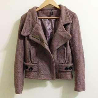 褐色厚裏夾克外套