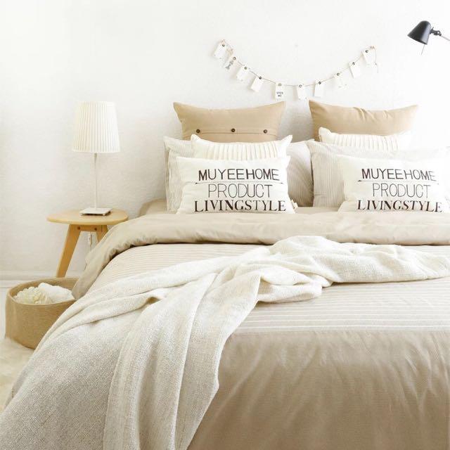 [含運]北歐風簡約純棉4件套床組 #00106