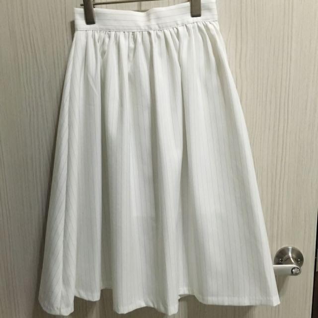 韓版白色長裙 全新
