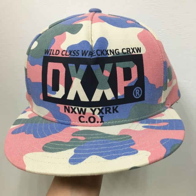 降價😭💋粉紅迷彩帽💋