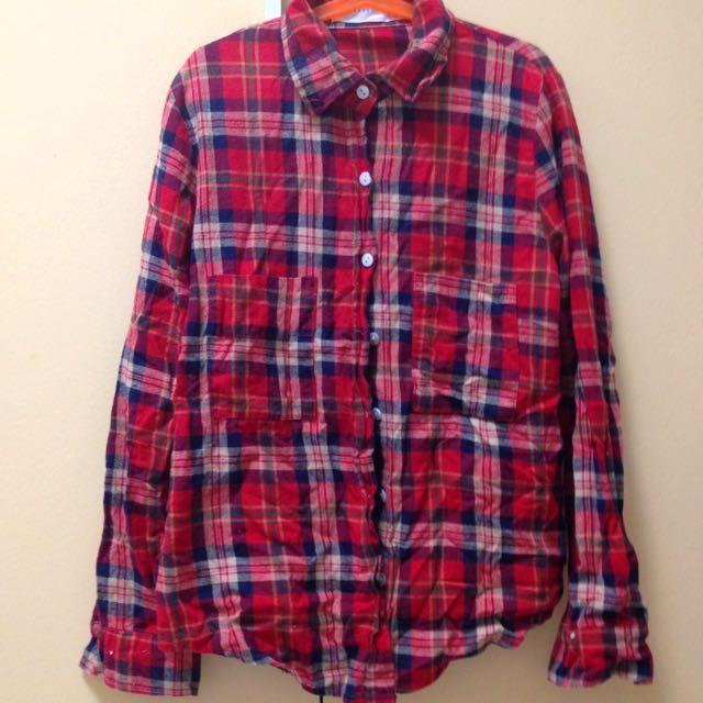 韓國👚格子/格紋襯衫