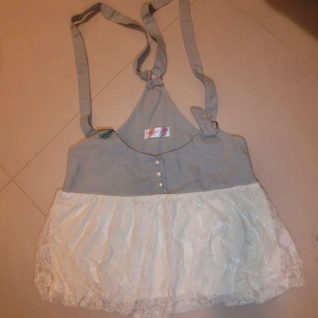 吊帶甜美棉紗裙