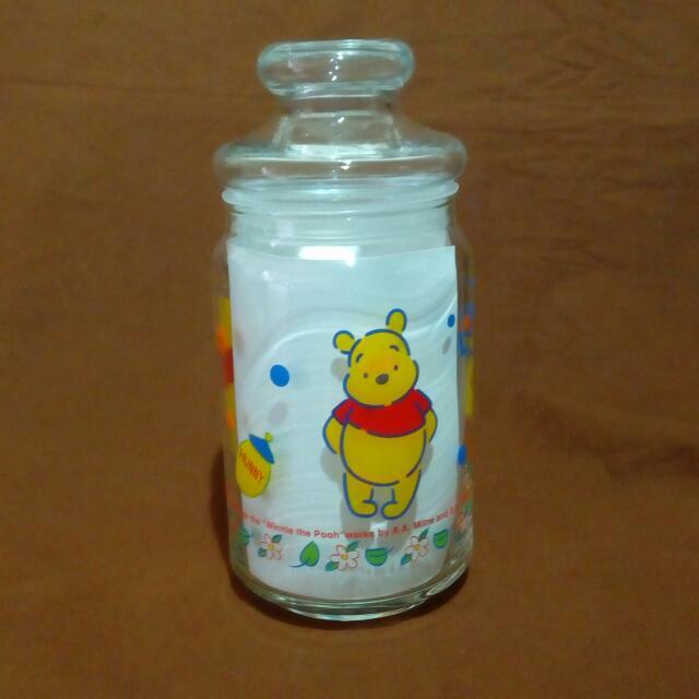 迪士尼小熊維尼玻璃密封罐