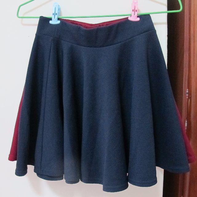 淘寶太陽裙(深藍/酒紅)