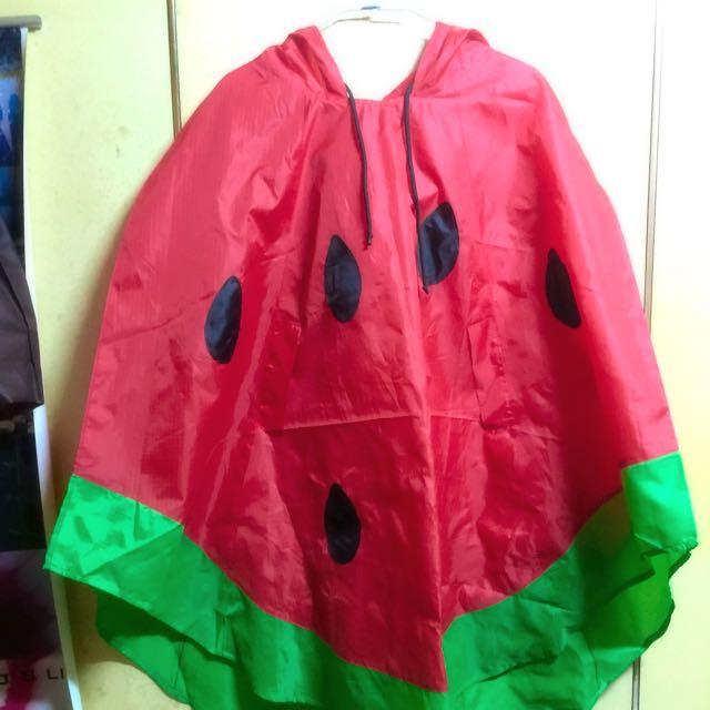二手西瓜雨衣