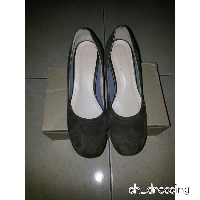 ㉿正韓 麂皮低跟鞋
