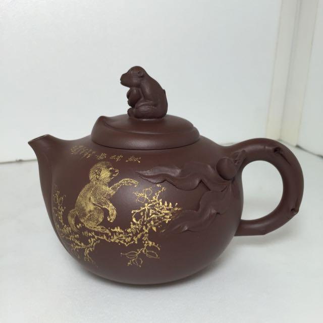 紫砂壺 陶藝 靈猴獻瑞