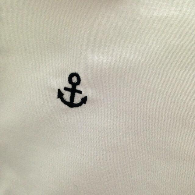 二手 | 海軍風小刺繡白襯衫