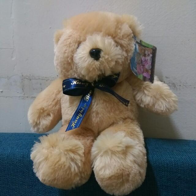 泰迪熊 全新 緞帶 情人節禮物 絨毛娃娃