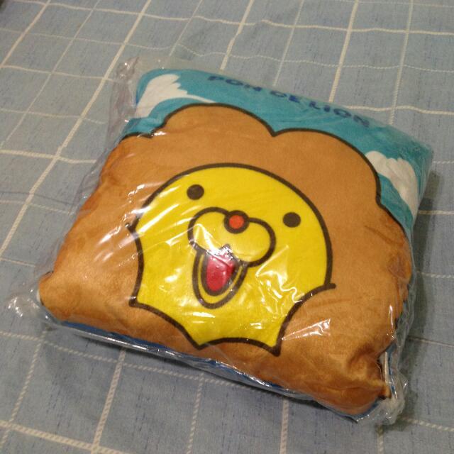 全新 | Mister Donut 波堤獅抱枕