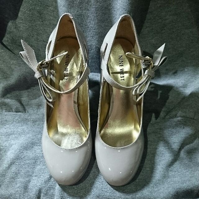 (降)免運_Nine West 24.5號藕色娃娃鞋