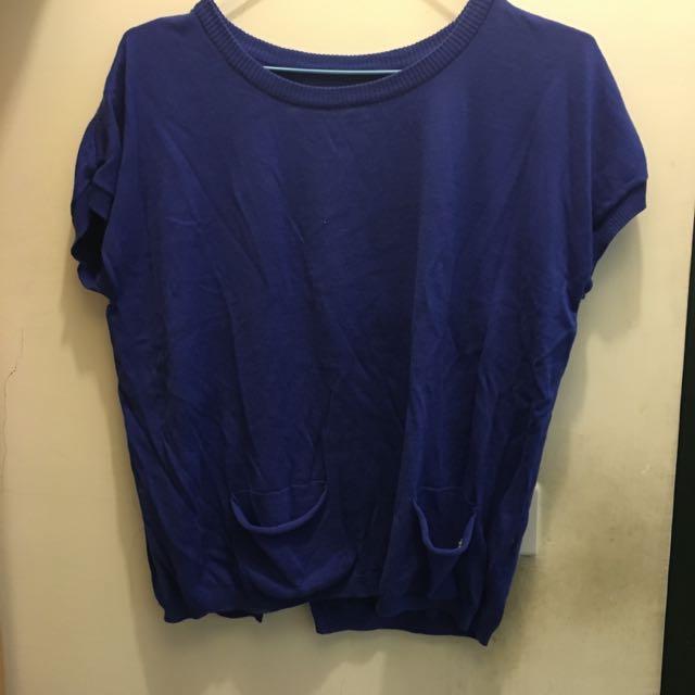 (全新)a la sha 短袖針織毛衣