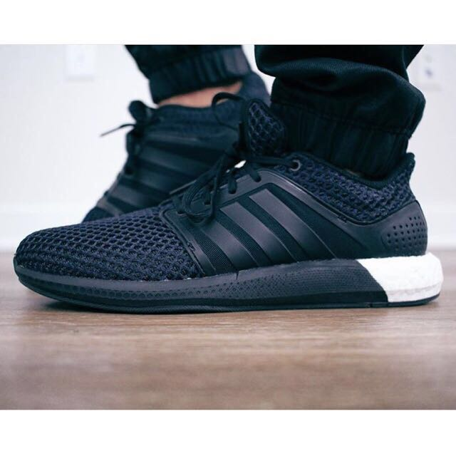finest selection 6e562 de9a9 Adidas Solar Boost Black Shoes 100% Authentic, Men s Fashion on Carousell