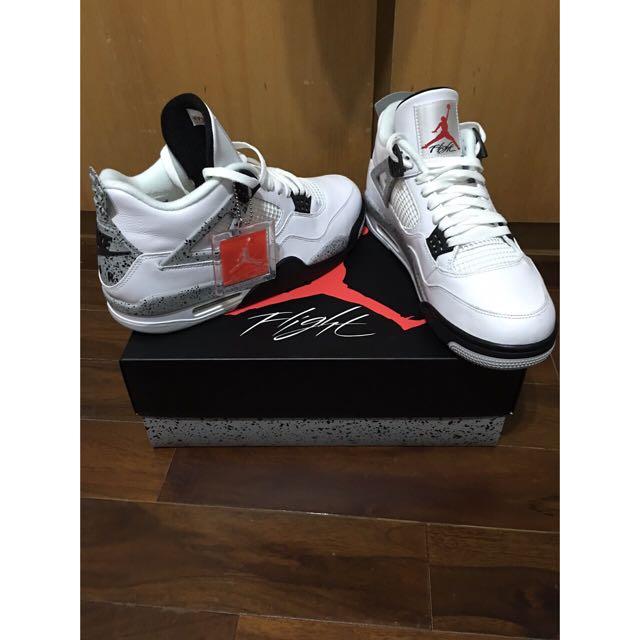 Air Jordan 4代 白水泥 老屁股