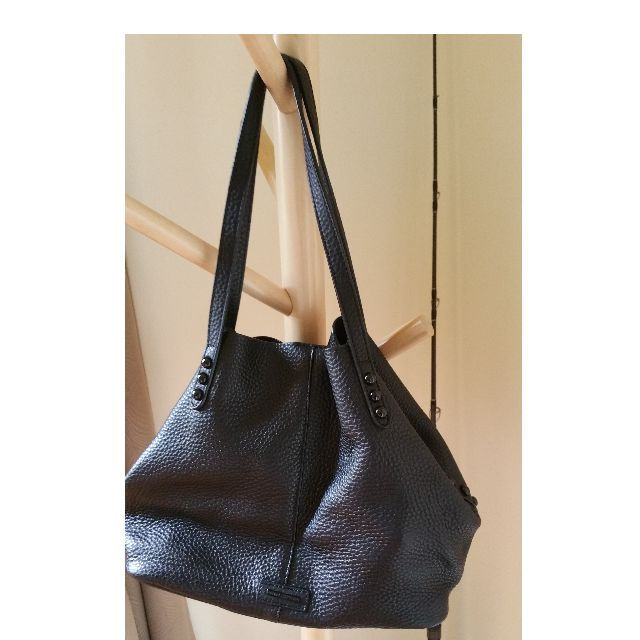Almost new Rebecca Minkoff slouchy black leather tote