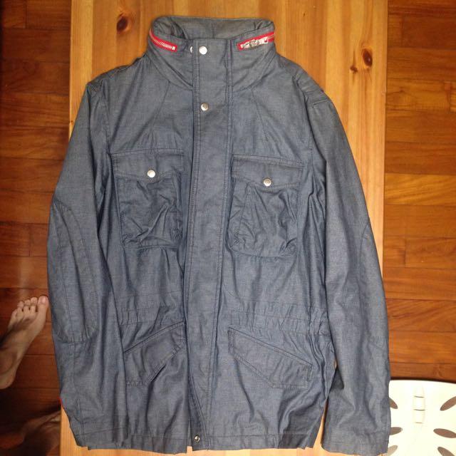 (正品)Armani Exchange外套 AX 夾克 牛仔布 軍外套 亞曼尼 風衣
