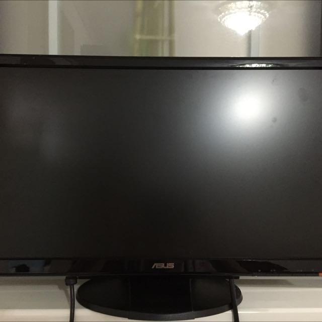 """近全新ASUS  22""""LCD螢幕,很少使用,需要螢幕的朋友,來把它帶回家吧!(本商品不含運喔!台北可面交)"""