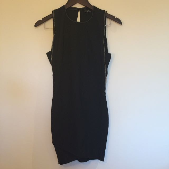 Bardot Size 8 Bodycon Zip Dress