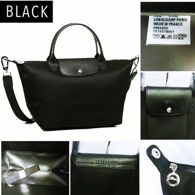 Brand New And Authentic Longchamp Le Pliage Neo Black Color Small ... bfcc8040c2c83