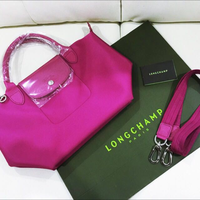 Brand New And Authentic Longchamp Le Pliage Neo Hydragenea Pink Small Size a92d7ab0fbf8a