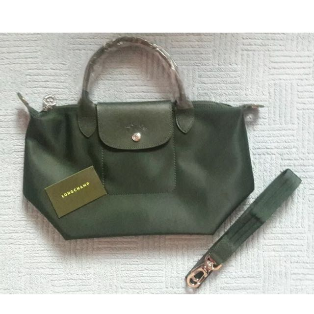 Brand New And Authentic Longchamp Le Pliage Neo Moss Green Color ... 58c217a0724f8