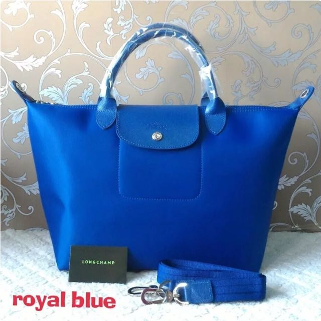 Brand New And Authentic Longchamp Le Pliage Neo Royal Blue In Medium ... 1534032b3f