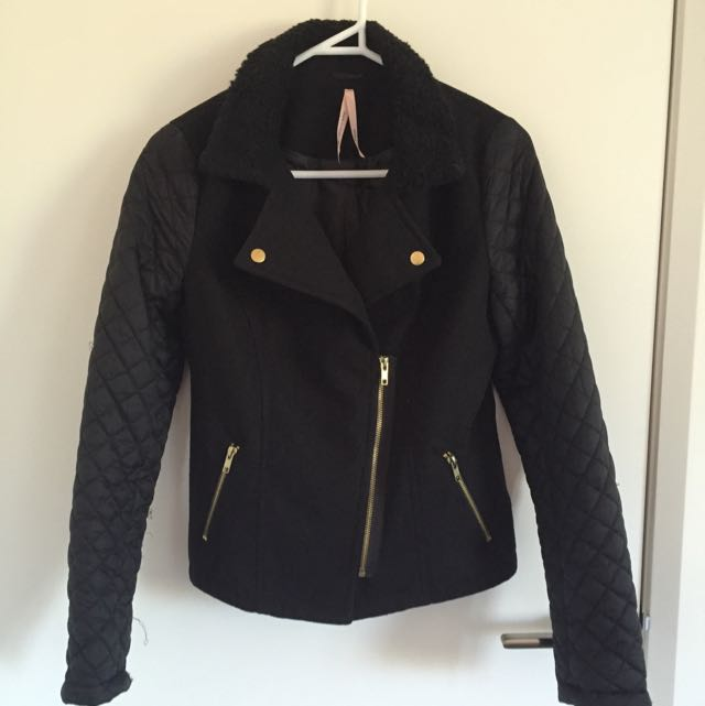 Classic Mixed Material Jacket Size 8