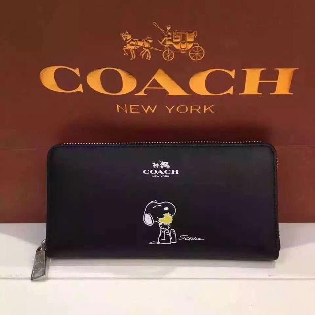 coach x snoopy 女用長夾