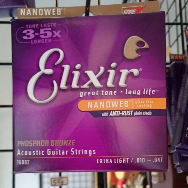 Elixir 木吉他弦紅銅 10-11-12  三款