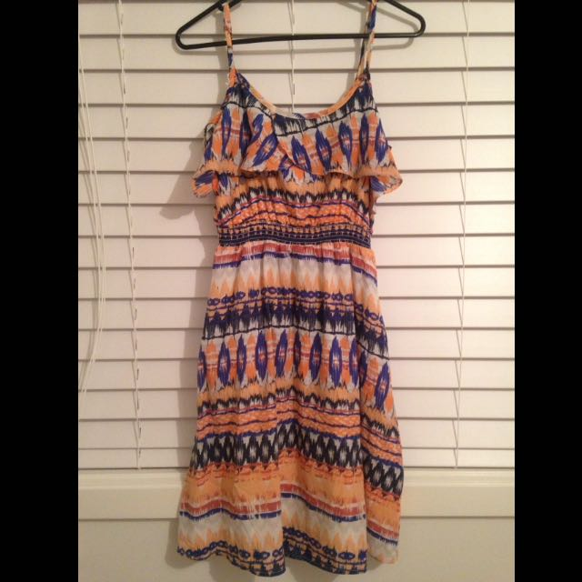 Jeanswest Summer Dress With Criss Cross Back