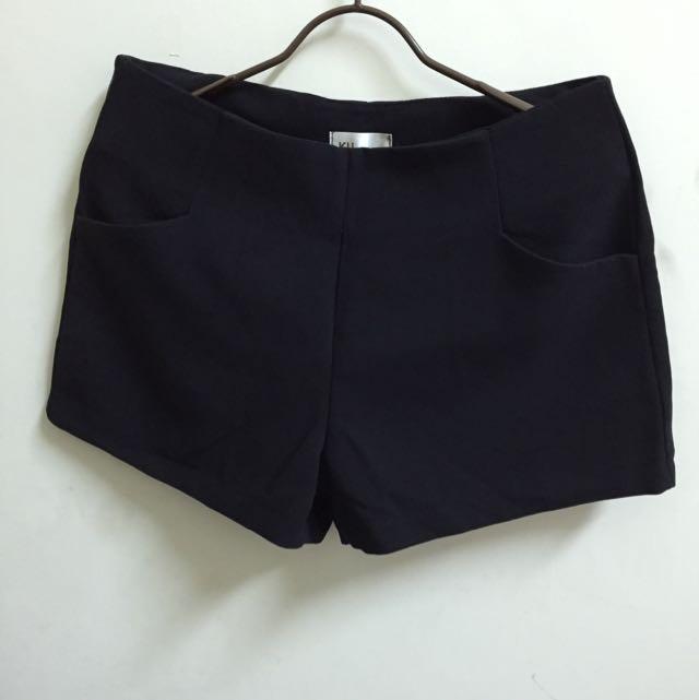 《全新》黑色西裝短褲L號