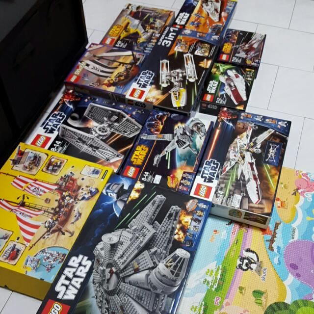 Lego Boxes (10 Star Wars, 2 Pirates)