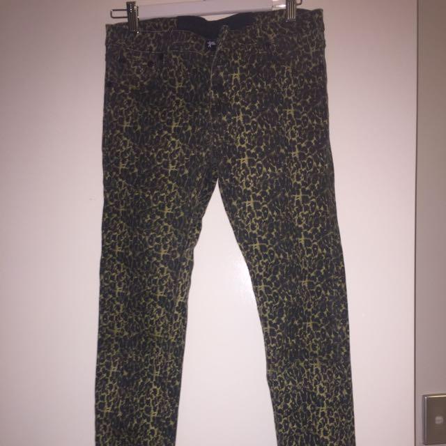 One teaspoon Jeans Leopard Print Size 10