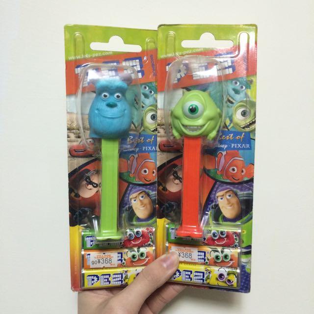 PEZ糖果系列 怪獸電力公司 毛怪 蘇利文 大眼仔 一組