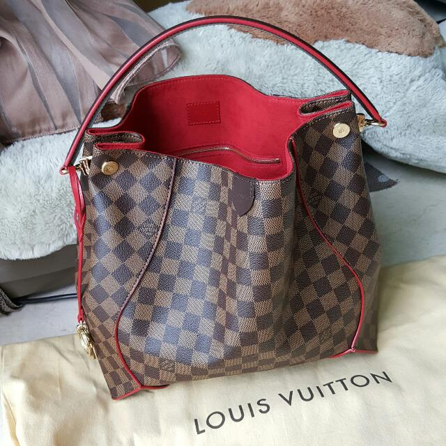 728a15453e Preloved LV Caissa Hobo (Red Trimming + Inner Lining)