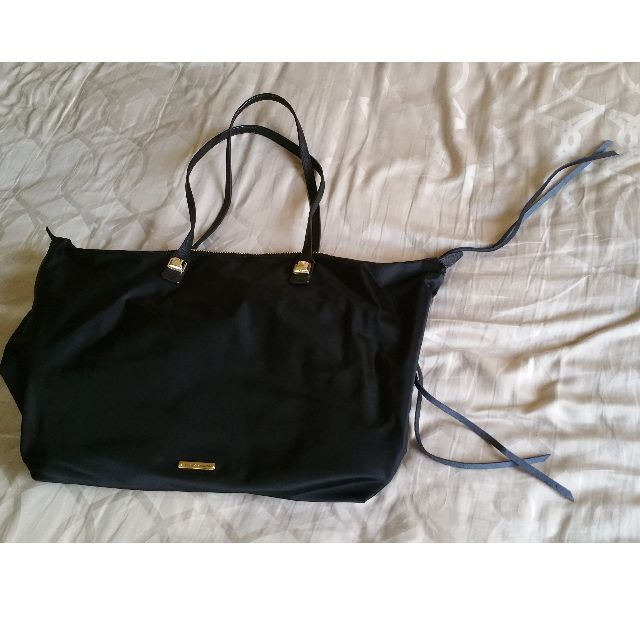 Rebecca Minkoff Nylon MAB Tote, Black with gold hardware