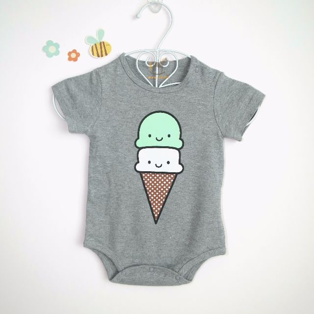 53208d7a9 S0010- Smiling Ice-Cream Body Suit (Onesies) x Clearance x sale ...