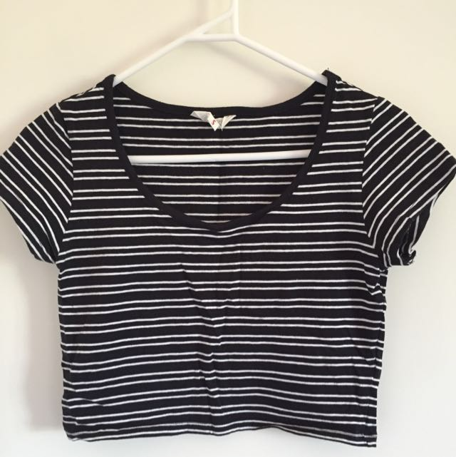Stripe Crop Top Size S