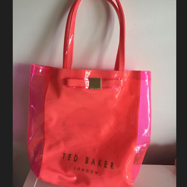 TED BAKER LONDON Pink Bow Shopper Bag
