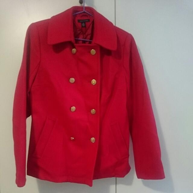 Tommy Hilfiger Bright Red Coat