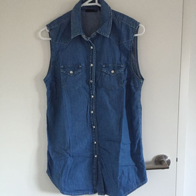 Top Shop Jeans Blouse Size 34