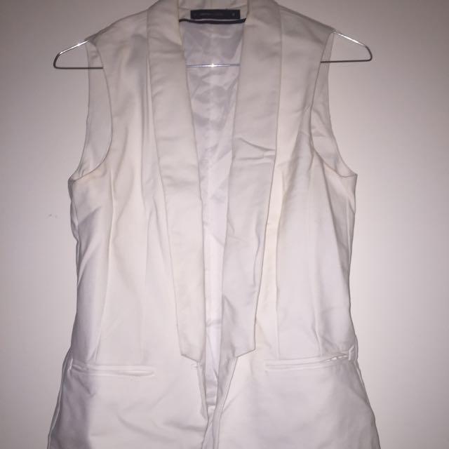 White Vest Size 10